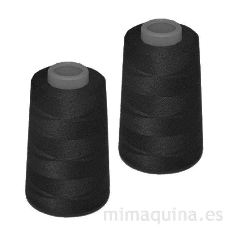 2 conos de hilo negro