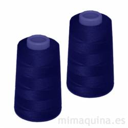 2 conos de hilo azul marino