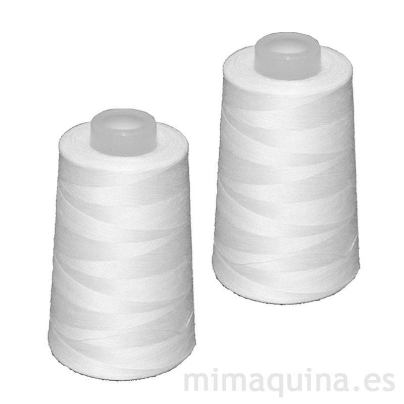 2 conos de hilo blancos