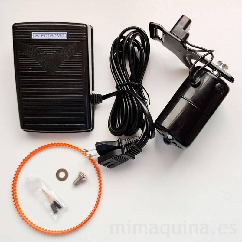 motor exterior negro para maquinas de coser completo