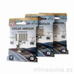 Agujas Organ para máquinas de coser, mimaquina.es