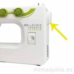Detalle de mando de maquina de coser Alfa