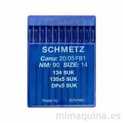 Agujas 134 de 90 SUK Schmetz