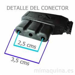 Dimensiones conector del pedal Alfa