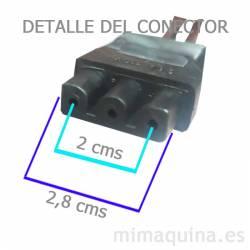 Dimensiones conector del pedal Singer