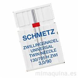 Aguja doble para maquina de coser Schmetz