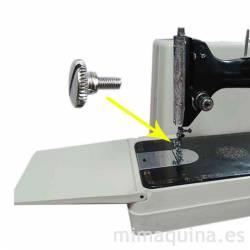 Tornillo para prensatelas de maquinas de coser, colocación.